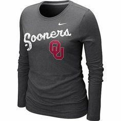 Oklahoma Sooner Clothing Women | Nike Oklahoma Sooners Women's Long Sleeve Blended T-Shirt