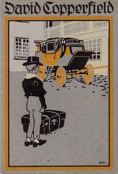 David Copperfields Jugendjahre, Stuttgart: Thienemann, [ca. 1910] Cover by Willy Planck.