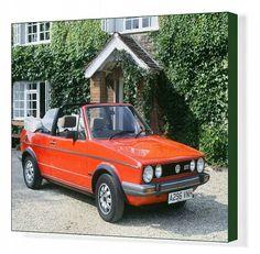 Print of 1984 Volkswagen Golf Gti cabriolet. Vw Golf Cabrio, Volkswagen Golf Mk1, Golf Mk2, Volkswagen Beetles, Vw Cabriolet, Porsche 356, Vw Camper, Photo Mugs, Photo Gifts