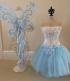 Frozen Elsa Snow or Ice Princess Costume Tutu Set with Top, Tutu Skirt and…