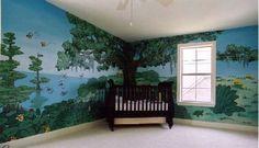 Mueller's Murals Bayou Bebe: Louisiana swamp nursery