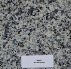 Azul Platino Granite (full bullnose edge) at kitchen