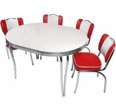Chrome And Formica Dining Sets Modern Chrome Dinette Set