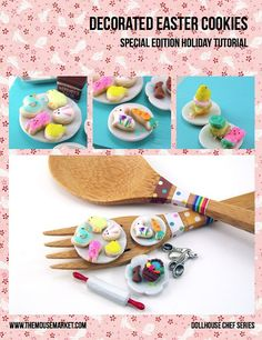 Miniature Tutorial - How to Sculpt Miniature Easter Cookies from Polymer Clay (Dollhouse, Food Jewelry Tutorial eBook)