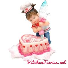 Little Valentine Baker Fairie- From Series Twenty One of the My Little Kitchen Fairies collection