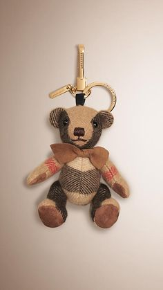 Burberry / $150 / Camel Thomas Bear Charm in Check Cashmere Camel