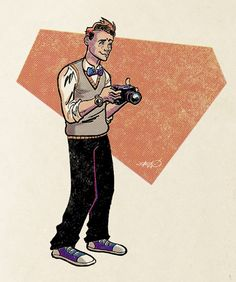 Yes sir, Superman's Pal Jimmy Olsen, he of signal-watch fame. I wanted to do the Silver Age version, but there's no way one illustration could. J is for Jimmy Olsen Comic Book Style, Comic Books, Superman Film, General Zod, Character Template, Jimmy Olsen, Lex Luthor, Comics Universe, Man Of Steel