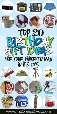 Check out The Dating Divas Top 20 Birthday Gift Ideas for your Favorite Man in his 20's. www.TheDatingDivas.com #birthday #giftguide #forhim