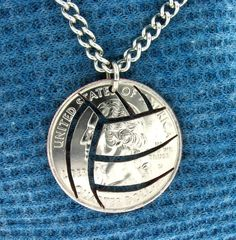 volleyball necklace ... I've got to try this!!!