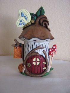 fairy house Green roofed fairy