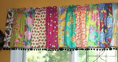 Strip Window Valance with OR without pom pom by TallulahSophie, $50.00