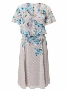 703d95b1f Buy Jacques Vert Off Women's Printed Dobby Soft Dress Online Fashion