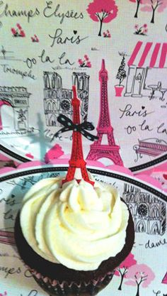 Eiffel Tower Chocolate Cupcakes. The next best thing to being in Paris. Well, almost.