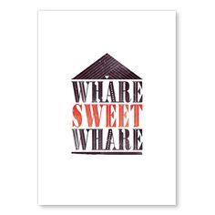 Whare Sweet Whare - Print