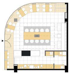 Cafeina Café,Planta Baixa Restaurant Floor Plan, Cafe Restaurant, Restaurant Ideas, Bar Interior, Traditional Lamps, Traditional Kitchen, Cafeteria Plan, Cafe Mode, Floor Plan Symbols