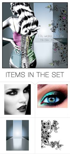 """luna"" by greeneyz ❤ liked on Polyvore featuring art"