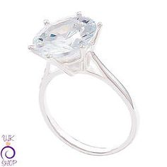 Sterling Silver Solitare Ring with Cubic Zirconia