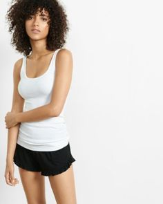 warm stone express one eleven ribbed scoop neck tank from EXPRESS