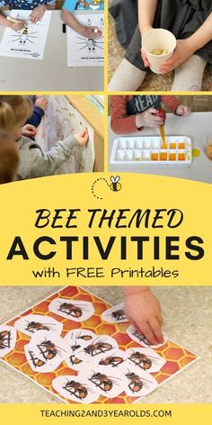 Learning about bees can be filled with exploration. During our bug unit, our preschoolers had an opportunity to create honeycomb, taste honey, and play fun bee games! #bees #insects #theme #activities #bugs #preschool #3yearolds #4yearolds #printables #teaching2and3yearolds 4 Year Old Activities, Insect Activities, Spring Activities, Toddler Activities, Nature Activities, Preschool Learning, Preschool Crafts, Preschool Activities, Teaching Kids