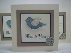 Recipe Stamps : Thank You Kindly Cardstock : Very Vanilla, Kraft, Not Quite Navy, Bella Bleu DSP Ink : Not Quite Navy Accessories : Extr. Bird Cards, Butterfly Cards, Flower Cards, Owl Card, Thanks Card, Cardmaking And Papercraft, Square Card, Small Cards, Beautiful Handmade Cards