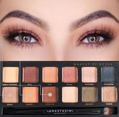 Master Palette by Mario makeup look using LOTUS Ultra Fluffy No. 117 mink lashes