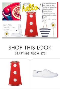 """""""Bright White Sneakers? I Keds you not!"""" by idocoffee ❤ liked on Polyvore featuring Dolce&Gabbana and Boohoo"""