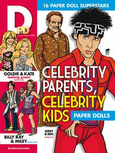Featured celebrities include Miley and Billy Ray Cyrus, Angelina Jolie and Jon Voight, Gwyneth Paltrow and Blythe Danner, Jennifer and John Aniston, plus four other famous families. Includes extra costumes and accessories.