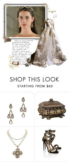 """Reign - Queen Mary Stuart"" by greerflower ❤ liked on Polyvore featuring Erickson Beamon, Zara, 1928 and Paul Andrew"