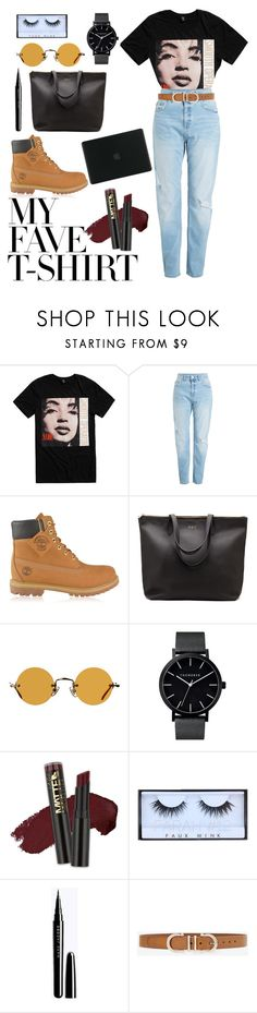 """My Fave T-shirt"" by mrspandassi ❤ liked on Polyvore featuring Timberland, Hakusan, L.A. Girl, White House Black Market, Tucano and MyFaveTshirt"