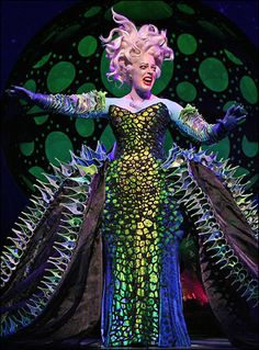 This costume! Broadway's The Little Mermaid hehe I want this costume for my little mermaid jr musical that we did a long time ago! Theater, Theatre Geek, Musical Theatre, The Little Mermaid Musical, Little Mermaid Costumes, Broadway Costumes, Theatre Costumes, Burlesque, Poor Unfortunate Souls