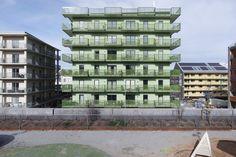 Alla husen är punkthus med till stor del ettor och tvårumslägenheter. Bild: Kalle Söderman