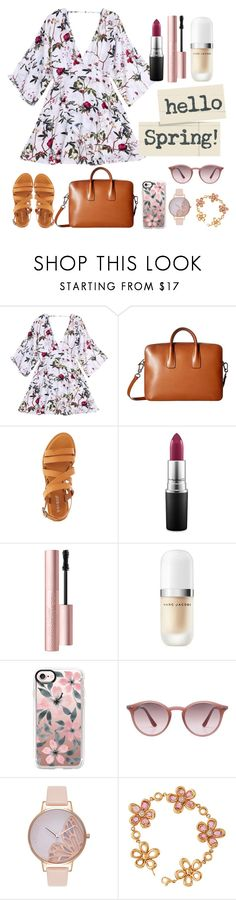 """""""Hello Spring"""" by samar-diab on Polyvore featuring Lodis, Bamboo, MAC Cosmetics, Too Faced Cosmetics, Marc Jacobs, Casetify, Ray-Ban, Olivia Burton and Roberto Coin"""