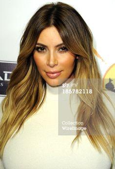 Kim Kardashian #ombre #blonde