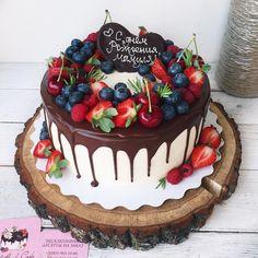 Cake Recipes Chocolate Layered - New ideas Cupcakes, Cupcake Cakes, 30 Cake, Berry Cake, Drip Cakes, Sweet Cakes, Cream Cake, Party Cakes, Let Them Eat Cake