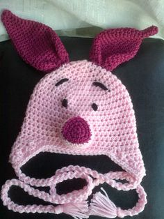 Crochet Piggy Hat Inspired by the character by DopteraDesigns, $36.00