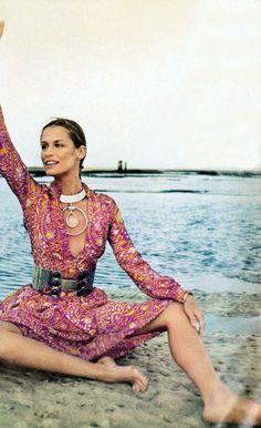 Vogue 1970 Lauren Hutton by Henry Clarke