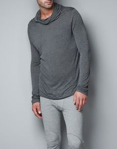 SWEATER WITH LOOSE POLO NECK - Homewear - Man - ZARA