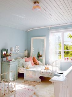 fresh blue kids room