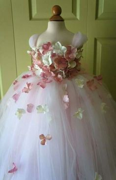 Flower Girl Dress Tutu Dress Blush Pink Dress by FashionTouch Blush Pink Dresses, Ivory Dresses, Flower Girl Tutu, Flower Girl Dresses, Flower Girls, Little Girl Dresses, Girls Dresses, Little Girl Tutu, Girls Party