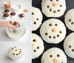 Holiday Snacks, Christmas Appetizers, Christmas Desserts, Easy Christmas Treats, Christmas Cupcakes Decoration, Holiday Cupcakes, Christmas Goodies, Christmas Candy, Christmas Snowman