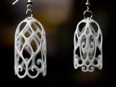 Check out Filigree Bell Shaped Earrings by LincolnK on Shapeways and discover more printed products in Mashable / June 12 Compile Curation. 3d Printing Business, 3d Printing Diy, 3d Printing Service, Printing Services, Stylo 3d, 3d Printer Designs, 3d Printed Jewelry, 3d Prints, Jewelry Photography