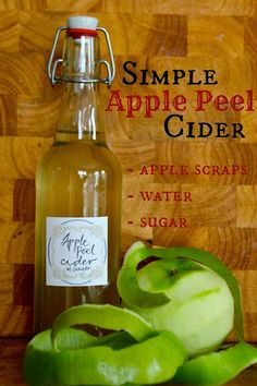 Got Apple Peels?  Make a Simple Apple Peel Cider!  All you need is apple scraps, water and sugar!