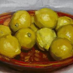 Today needs a bit of colour. #stilllife #allaprima #oilpainting #fromlife #art #contemporaryrealism #lemons