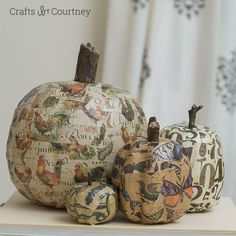Mod Podge Pumpkins for the Fall Season