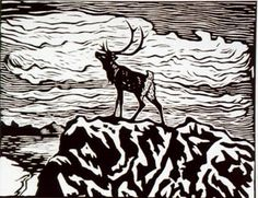 Ønsker å kjøpe John Savio og Iver Jåks kunst Woodcut Art, Scandinavian Folk Art, Nordic Art, Wood Engraving, Woodblock Print, Art History, Moose Art, Art Prints, Block Prints