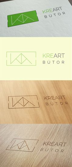 A Kreart Bútor asztalos vállalkozás számára tervezett logó