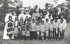 Thomasites and their students in Benguet, 1900s