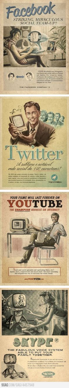 Vintage Website Advertisements