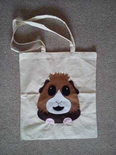 Guinea Pig Shopping / Tote Bag - £5.00 #craftfest