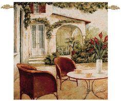 South Terrace Street Cafe Wall Tapestry Fabrice De Villeneuve,